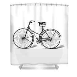 Shower Curtain featuring the digital art Vintage Bike by ReInVintaged