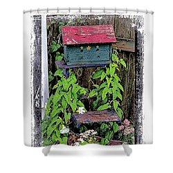 Vintage Bird House Shower Curtain