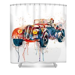 Vintage Driver  Shower Curtain