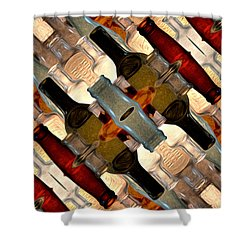 Vintage Bottles Abstract Shower Curtain
