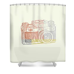 Vintage Camera 2 Shower Curtain