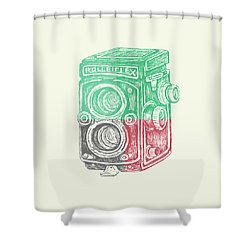 Vintage Camera Color Shower Curtain