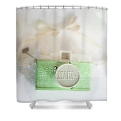 Vintage Camera Fun Splashes Shower Curtain by Terry DeLuco