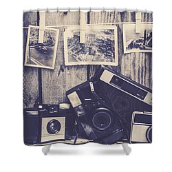 Vintage Camera Gallery Shower Curtain