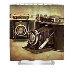 Vintage Cameras Shower Curtain