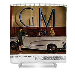 Vintage Car Ads Shower Curtain