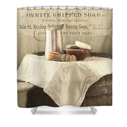 Vintage Clean Shower Curtain by Robin-Lee Vieira