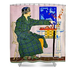Vintage Clothing Advertisement 1910 Shower Curtain by Padre Art