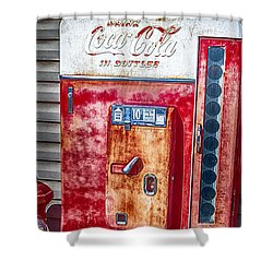 Vintage Coca-cola Machine 10 Cents Shower Curtain
