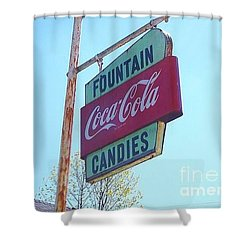 Vintage Coca-cola Sign Shower Curtain