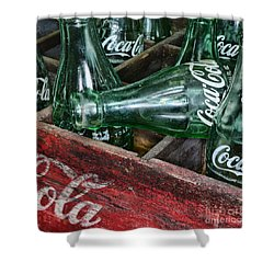 Vintage Coke Square Format Shower Curtain by Paul Ward