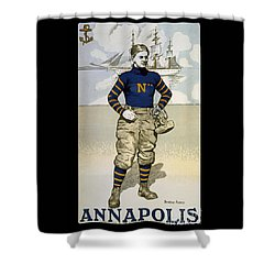 Vintage College Football Annapolis Shower Curtain