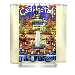 Vintage Coolidge Park Poster Shower Curtain