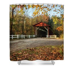 Shower Curtain featuring the photograph Vintage Covered Bridge by Dale Kincaid