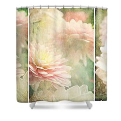 Vintage Dahlia Shower Curtain