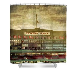Vintage Fenway Park - Boston Shower Curtain by Joann Vitali