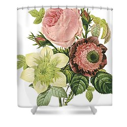Vintage Flowers 2 Shower Curtain