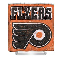 Vintage Flyers Sign Shower Curtain by Debbie DeWitt
