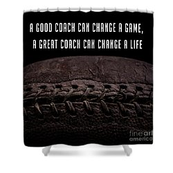 Shower Curtain featuring the photograph Vintage Football  Good Coach by Edward Fielding
