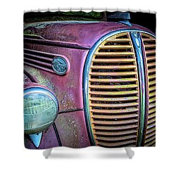 Vintage Ford Firetruck Shower Curtain