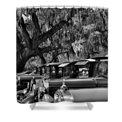 Vintage Ford Line-up At Magnolia Plantation - Charleston Sc Shower Curtain