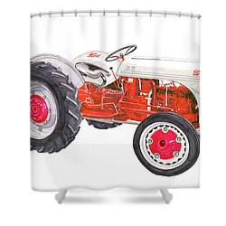 Vintage Ford Tractor 1941 Shower Curtain by Jack Pumphrey