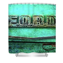 Vintage Ford Truck Logo  Shower Curtain