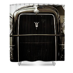 Vintage Ford V8 Shower Curtain