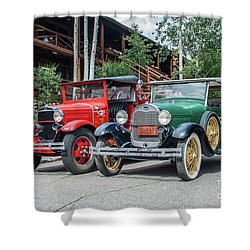 Vintage Ford's Shower Curtain