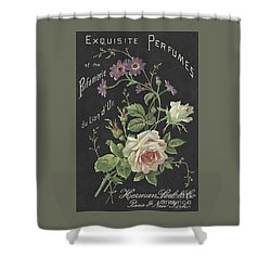 Vintage French Perfume  Shower Curtain