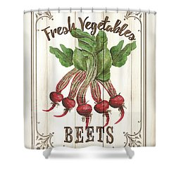 Shower Curtain featuring the painting Vintage Fresh Vegetables 1 by Debbie DeWitt