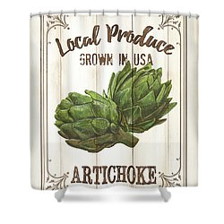 Shower Curtain featuring the painting Vintage Fresh Vegetables 2 by Debbie DeWitt
