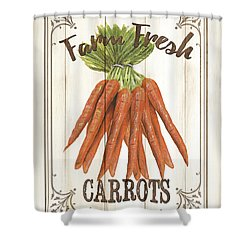 Shower Curtain featuring the painting Vintage Fresh Vegetables 3 by Debbie DeWitt