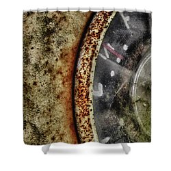 Vintage Fuel Gage Abstract Shower Curtain