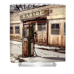 Vintage Garage Shower Curtain