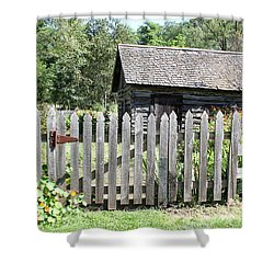 Vintage Garden Gate Shower Curtain