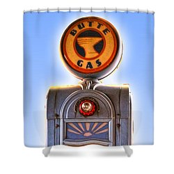Vintage Gas Pump Shower Curtain
