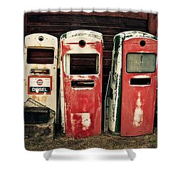 Vintage Gas Pumps Shower Curtain