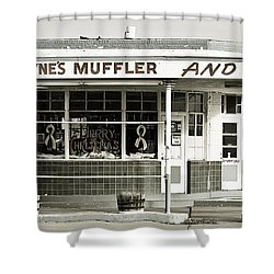 Vintage Gas Station Shower Curtain by Marilyn Hunt