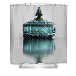 Vintage Glass Candy Jar Shower Curtain