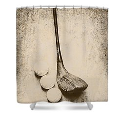 Vintage Golf Artwork Shower Curtain