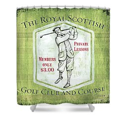 Vintage Golf Green 1 Shower Curtain