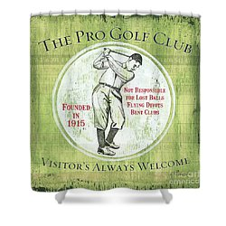 Vintage Golf Green 2 Shower Curtain
