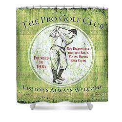 Vintage Golf Green 2 Shower Curtain by Debbie DeWitt