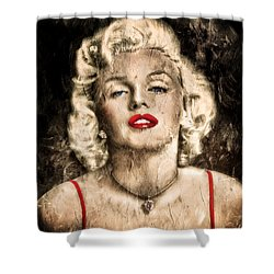 Vintage Grunge Goddess Marilyn Monroe  Shower Curtain