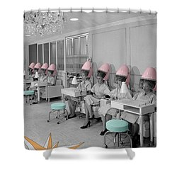 Vintage Hair Salon Shower Curtain by Andrew Fare