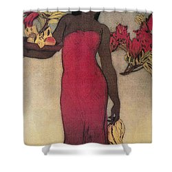 Vintage Hawaiian Woman Shower Curtain by Hawaiiam Legacy Archives - Printscapes