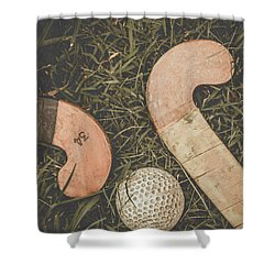 Shower Curtain featuring the photograph Vintage Hockey by Jorgo Photography - Wall Art Gallery
