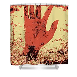 Vintage Horror Poster Art  Shower Curtain by Jorgo Photography - Wall Art Gallery