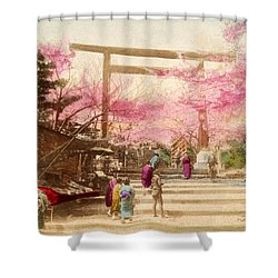Vintage Japanese Art 25 Shower Curtain by Hawaiian Legacy Archive - Printscapes